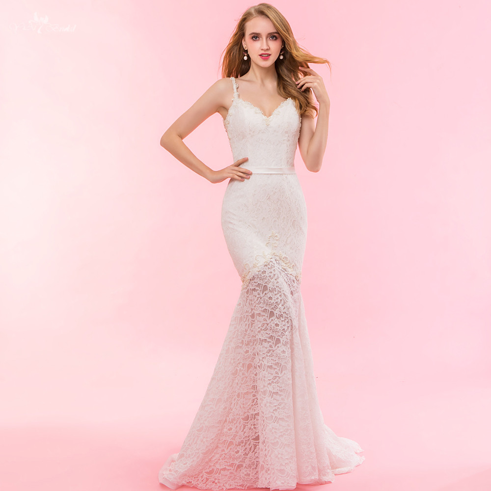 RSW1325 Real Pictures Yiaibridal Sheer Skirt Mermaid Lace Bohemian ...
