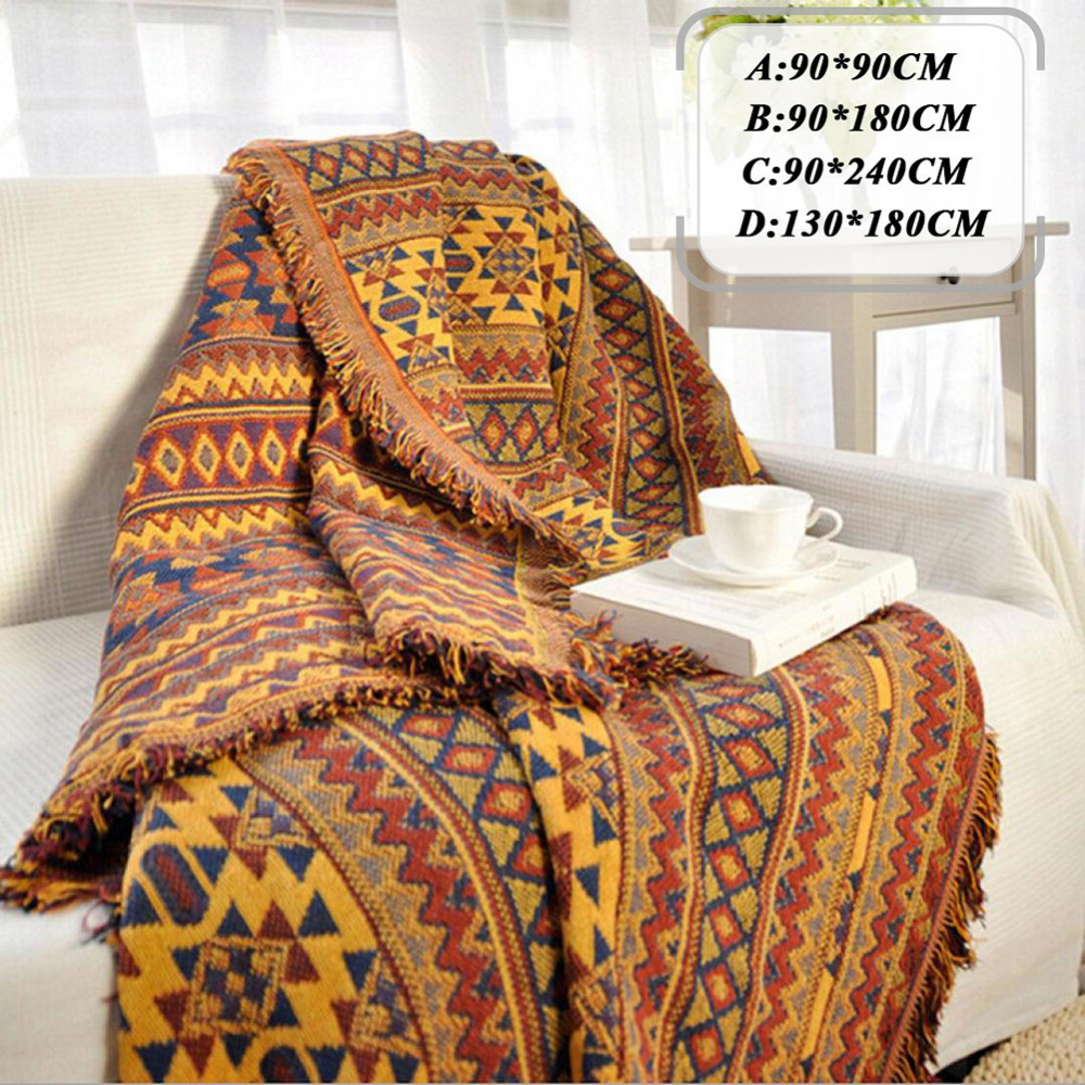 Bohemian Chenille Towel Blanket For Couch Sofa Decorative