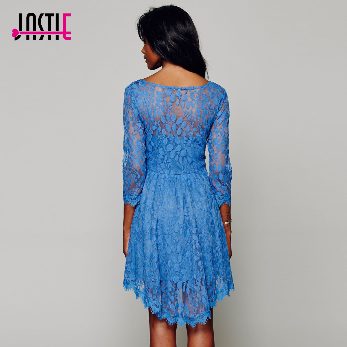 Jastie Floral Mesh Summer Style Boho Hippie Embroidery