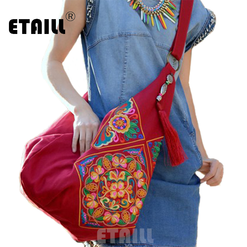 ... Canvas Ethnic Embroidery Bag Boho Thailand Embroidered Women Messenger  Bags Cross Body Bags Sac a Dos Femme. Sale. Previous b7ab30c066a