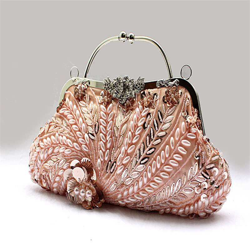 2016 New Boho Vintage Flower Evening Bag Wedding Clutch Bags For Bride Hot Styling Day Clutches Lady With Handle Wy36 Gipsy