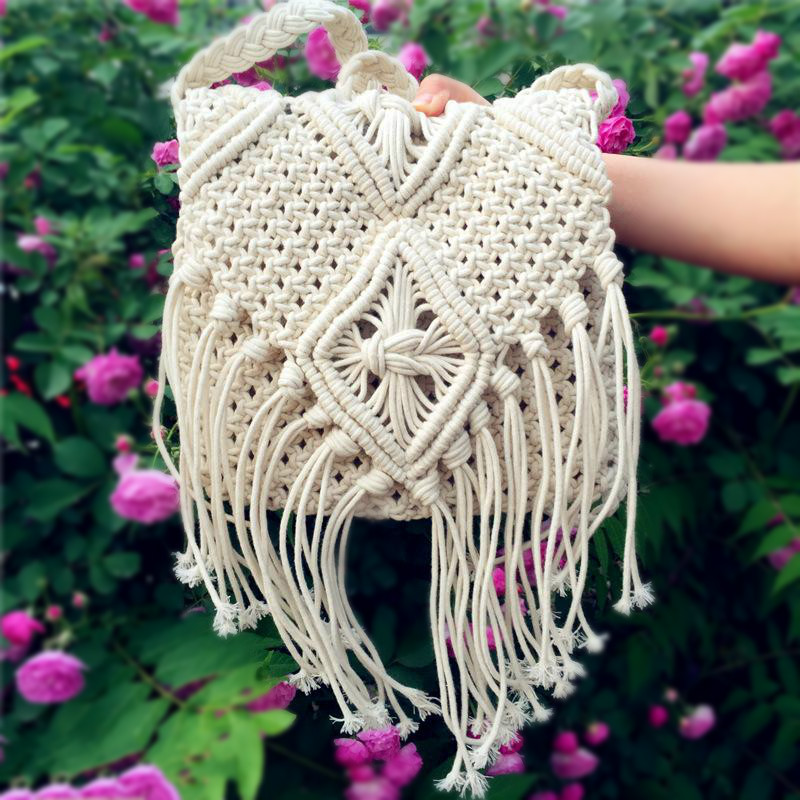 Tassel Shoulder Bag Bolsa Feminina Crossbody Bags Crochet Fringed