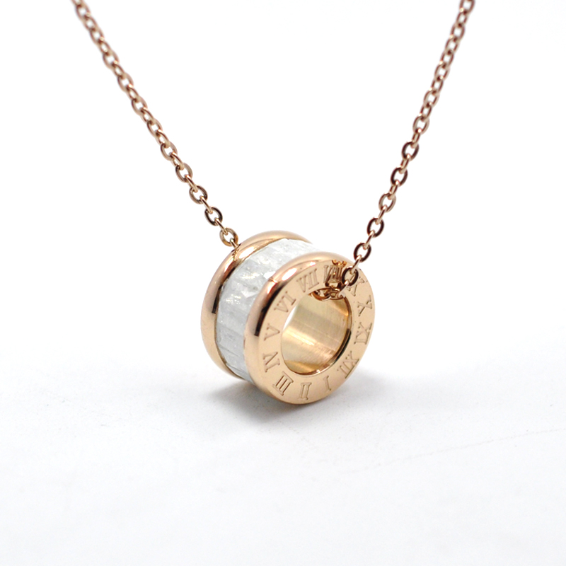 Fysara charming boho jewelry rose gold color round crystal necklace fysara charming boho jewelry rose gold color round crystal necklace for women chain collar roman numerals short necklaces gift boho gipsy store aloadofball Images