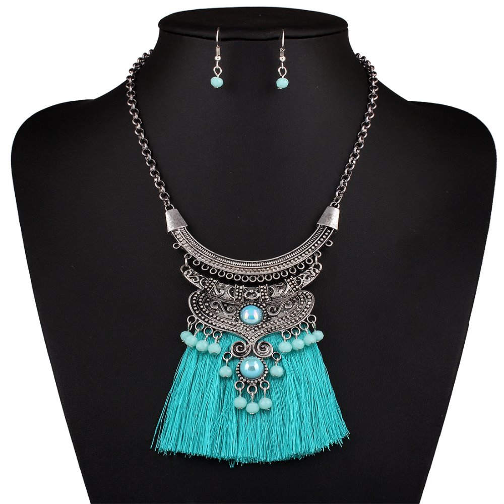 68d8f9ad6323 Fashion Vintage Choker Collar Bohemian Maxi Boho Necklace Ethnic Long  Statement Tassel Necklace For Women Necklaces   Pendants - Boho Gipsy Store
